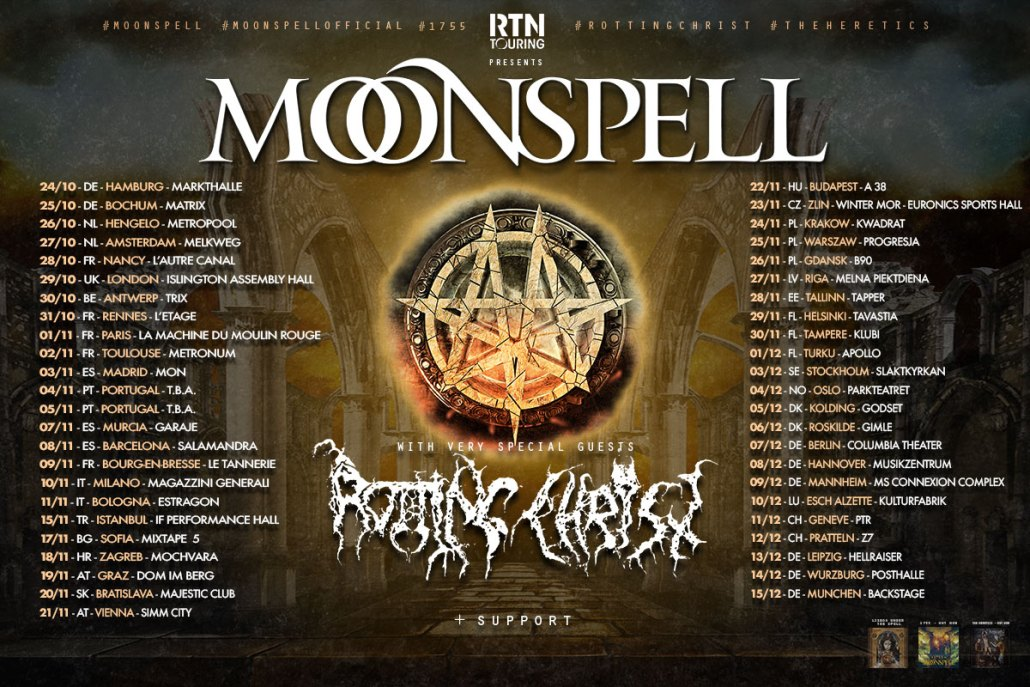 Moonspell, Rotting Christ, Silver Dust