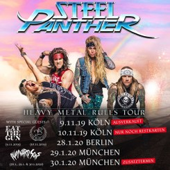 Konzertflyer Steel Panther - Heavy Metal Rules Tour