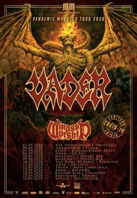 Konzertflyer Vader Pandemic Madness Tour