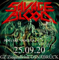 Konzertflyer Savage Blood Kultur auf Abstand