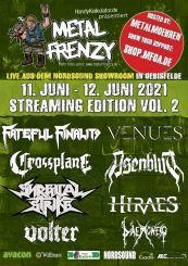 Flyer Metal Frenzy Livestream