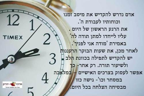 ניצול של מיטב הזמן
