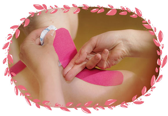 Kinesiotaping an der Schulter