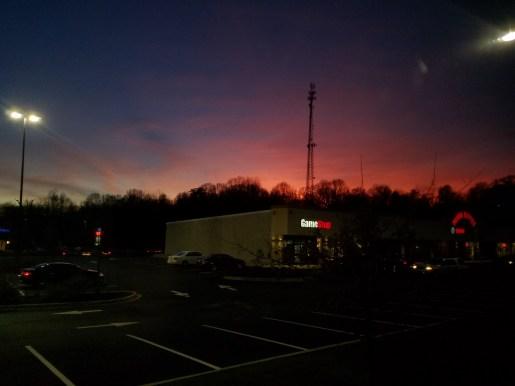 Our view at Walmart in Vicksburg, Alabama