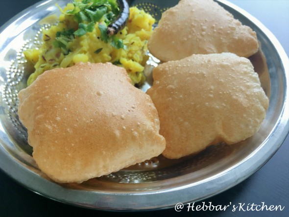 Poori Bhaji Hebbar S Kitchen