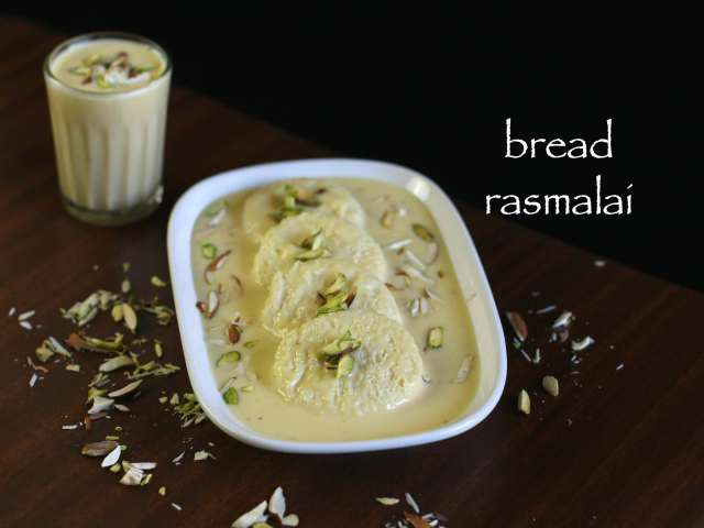 bread rasmalai recipe  bread ki rasmalai with milkmaid  instant rasmalai