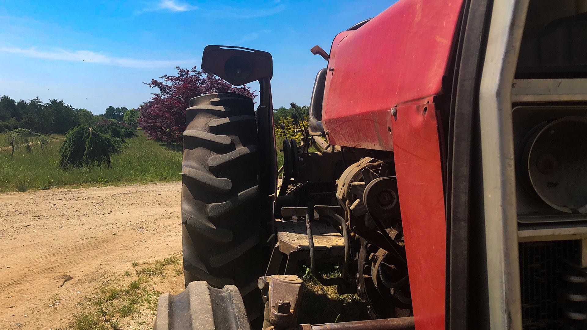 old tractor at H. Eberhard Nurseries