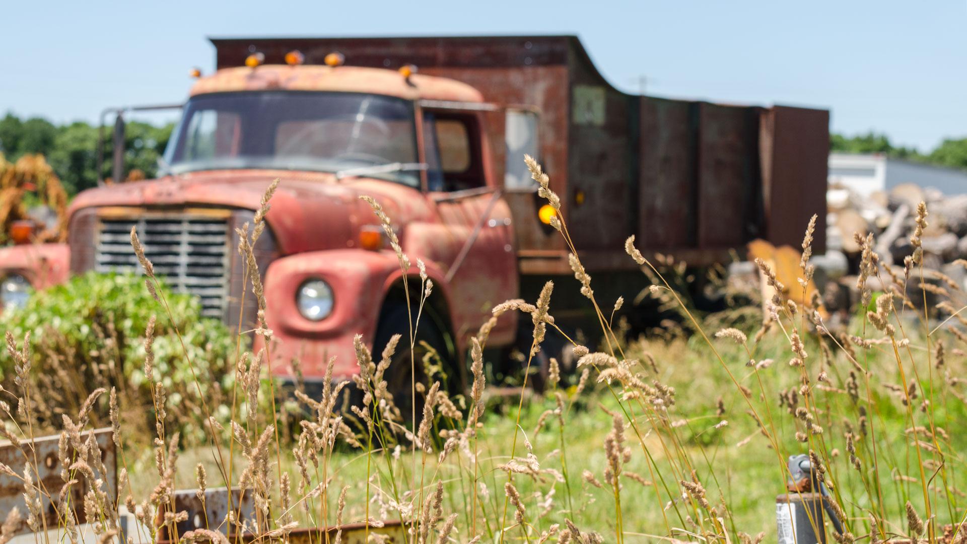 old truck at H. Eberhard Nurseries