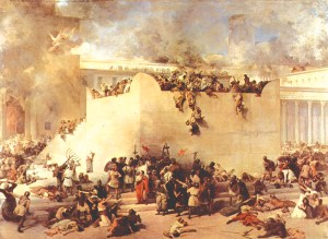 La destruction du Temple de Jérusalem, 1867, Francesco Hayez