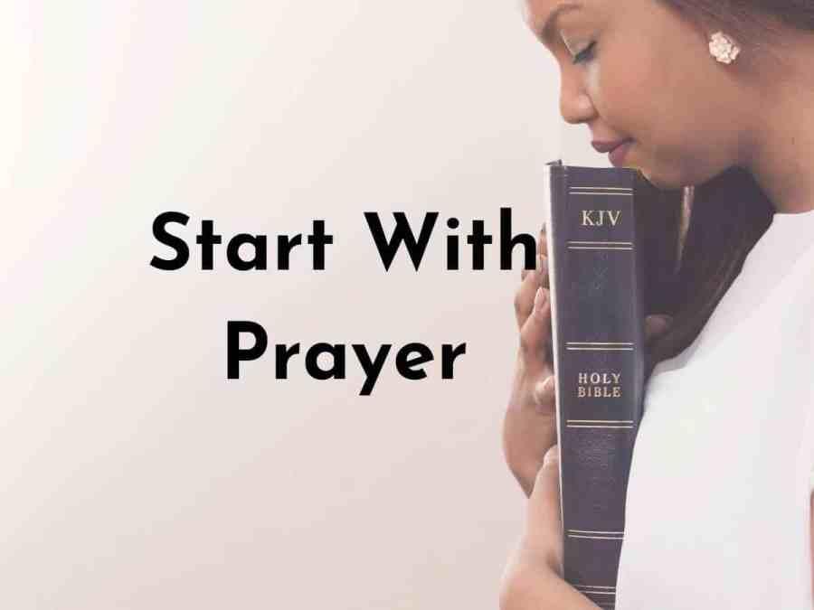 start with prayer