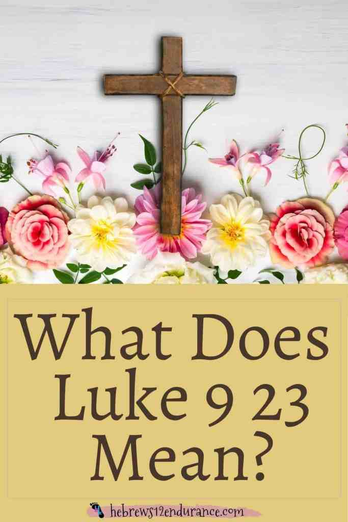 What Does Luke 9 23 Mean?