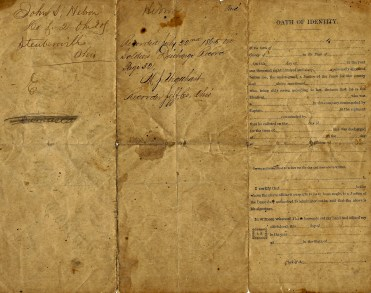 Reverse side of Discharge Papers