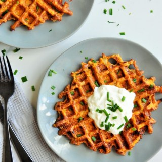 Healthier Sweet Potato Hash brown Waffles