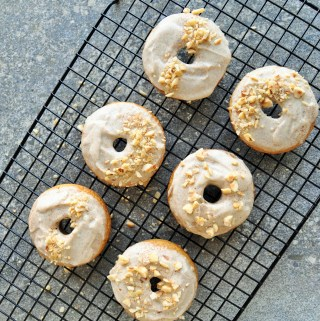 Cinnamon and Ginger Maple Glazed Baked Donuts