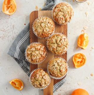 Buckwheat and Oat Orange muffins