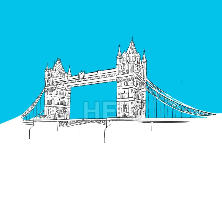Tower Bridge, England, Blue Series