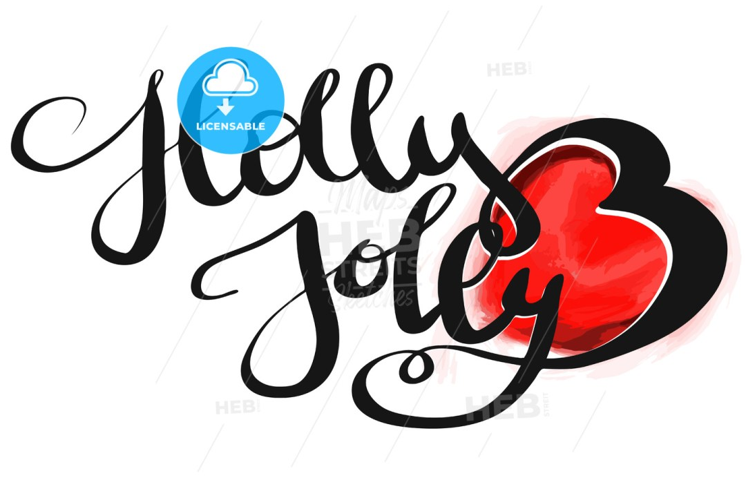 Holly Jolly Christmal Design Text