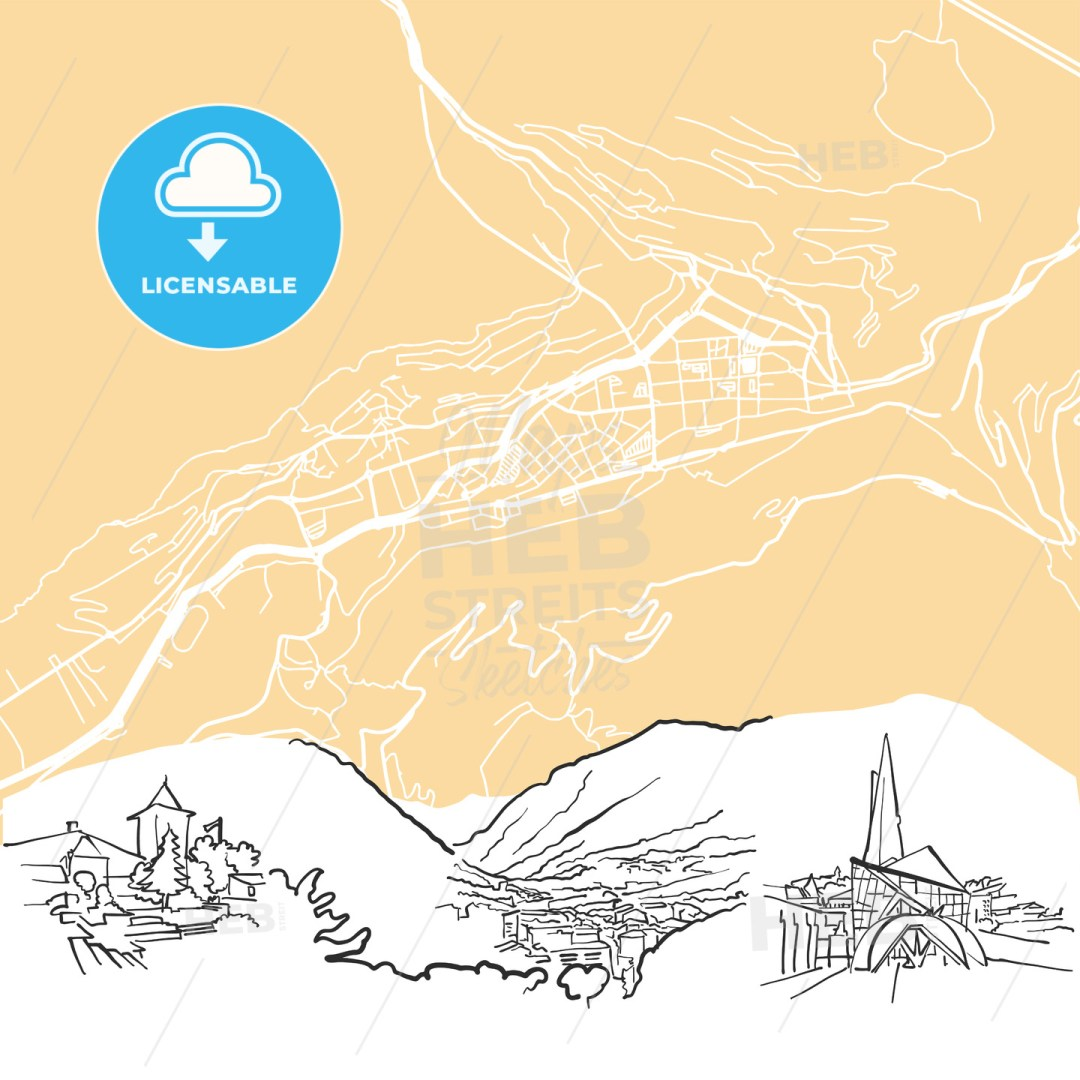 Andorra la Vella Background Map