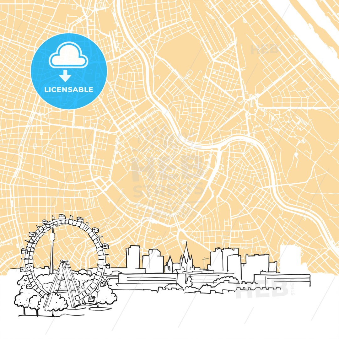 Vienna Austria Background Map