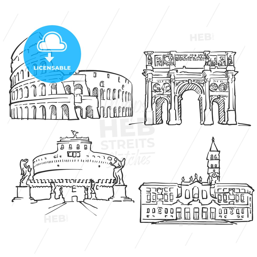 Rome Italy Famous Buildings