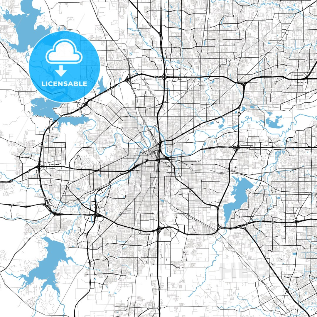 Fort Worth High Resolution Vector Map