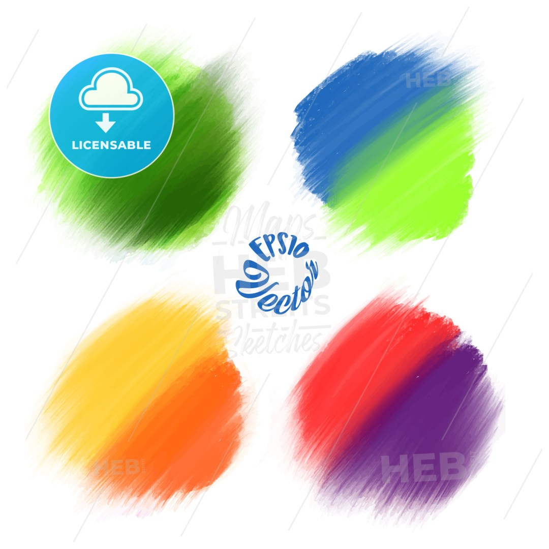 Colored Vector paint brushes