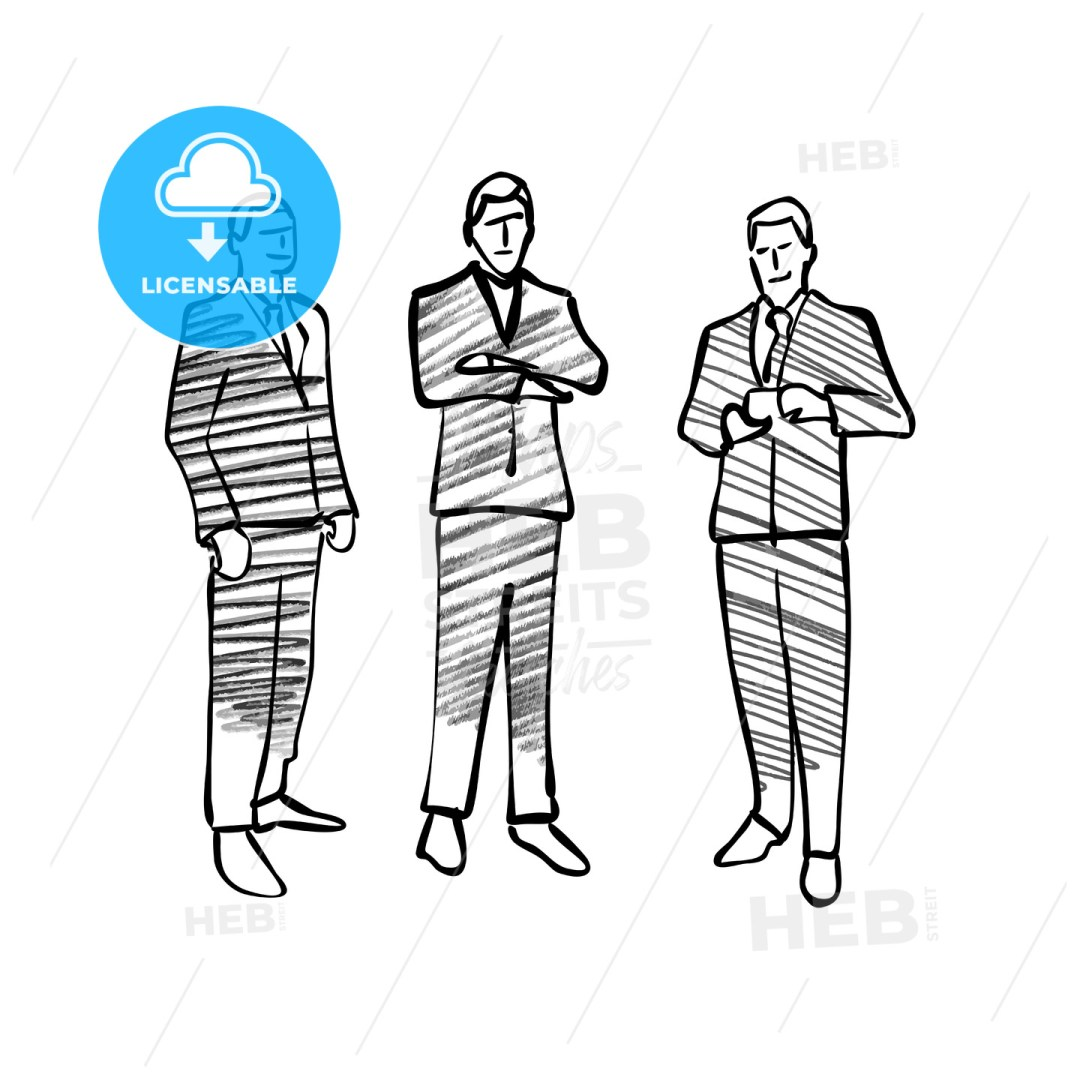 Group of business people drawing