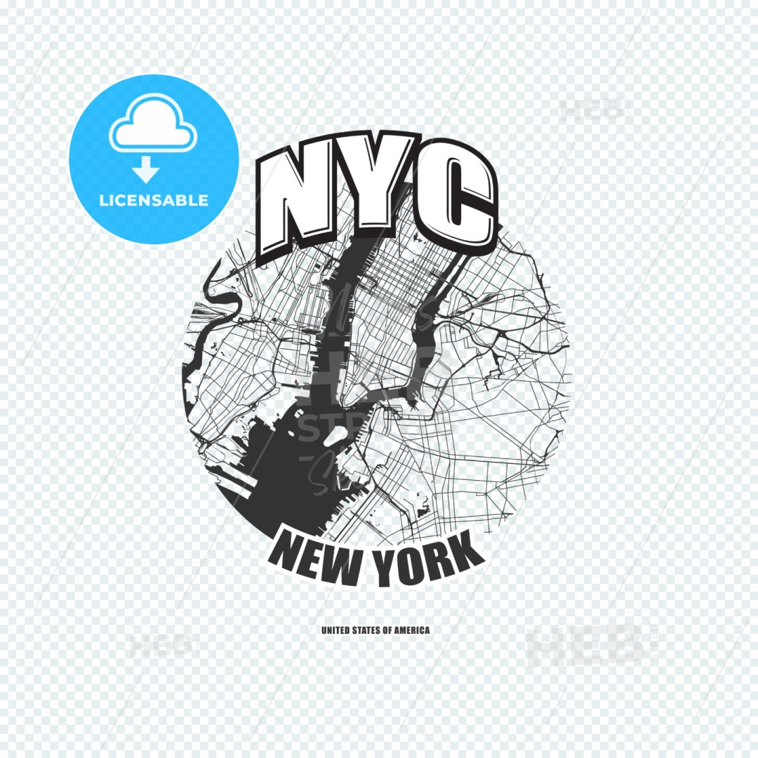New York City, New York, logo artwork