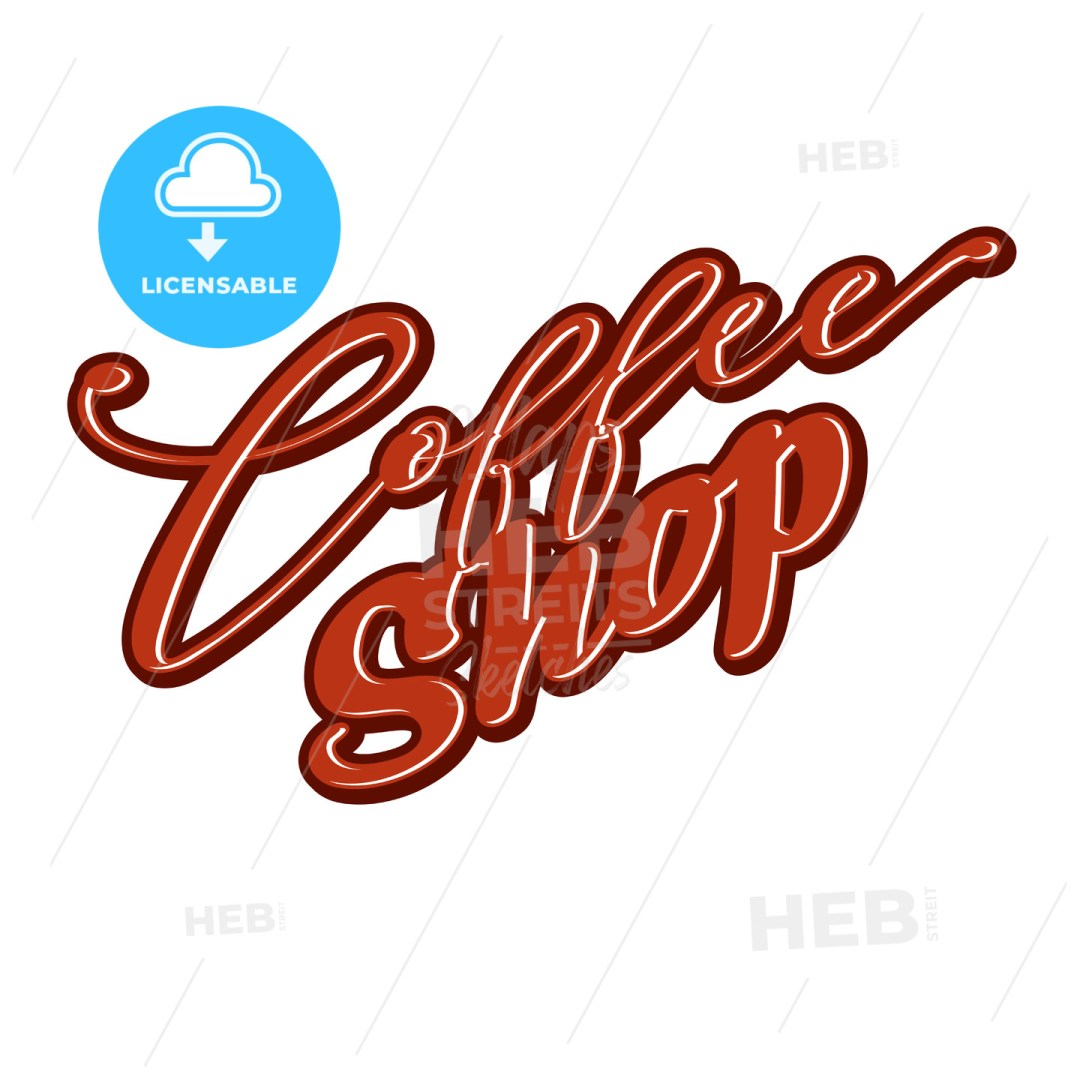 Coffee Shop lettering