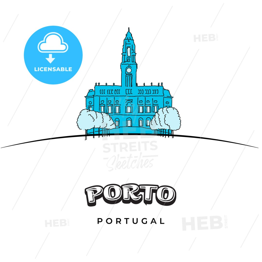 Porto Portugal travel sign