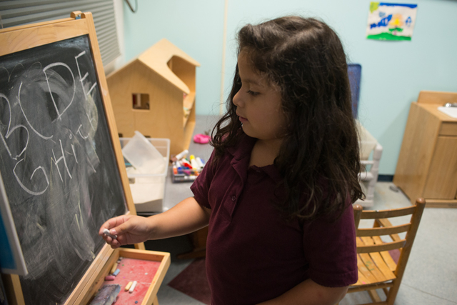 Angie Perez, 5, attended Erie Neighborhood House in Chicago for preschool and received therapy to help her handle a troubling home situation. (Photo: Julienne Schaer)