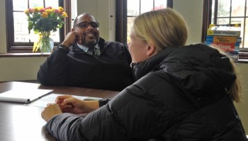 Deren Finks counseling a student at the Cranbrook Schools. He's one of five college counselors and two support staffers who work full-time on college advising for the private school's 200 seniors.
