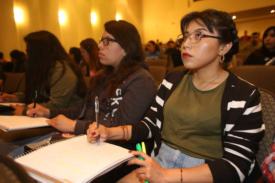 Lupe Sanchez, an undocumented student born in Mexico, sits in a class on the UCLA campus where she is in her first year. The Hechinger Report is dedicated to top-notch higher education coverage and keeps an eye on the issues unique to immigrant students at all levels.