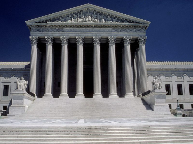 Washington, D.C. – West Front Plaza and façade of the U.S. Supreme court building.