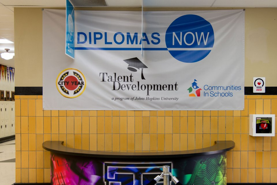 Under the Diplomas Now imitative three nonprofit groups provide staff and resources inside Webster High School.