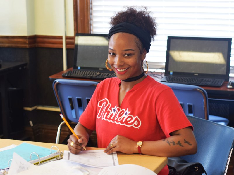 Laci Hargrove, 18, who fell short of the high school credits she needed to graduate, moved straight from high school to a HiSET-prep program that also provides her with needed social supports.