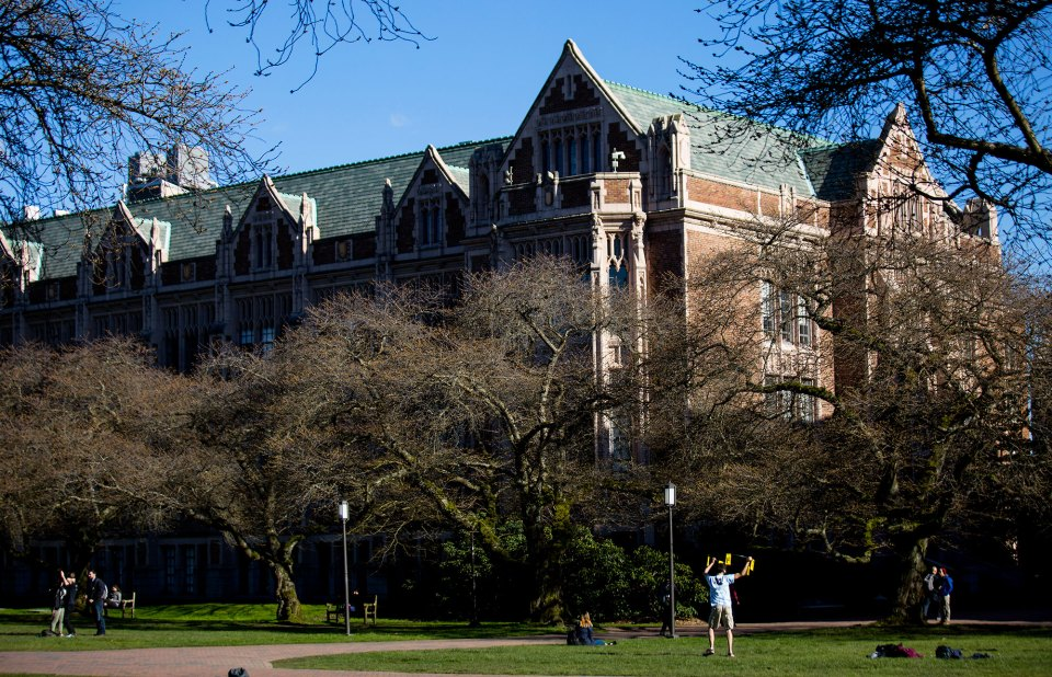 The University of Washington has improved its four-year graduation rate.