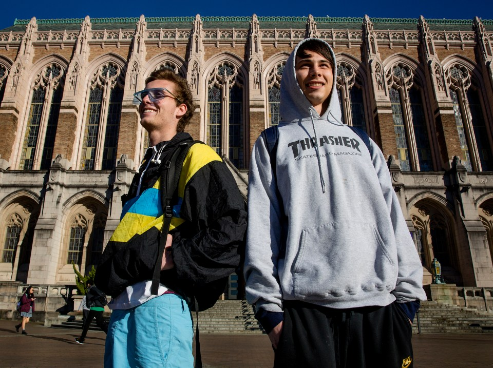Noah Williams and James Poirier, both sophomores, already know it will take them longer than four years to graduate from the University of Washington — Williams because there wasn't any room in courses required for his major, and Poirier because he has to take more language courses, even though he plans to major in biology.