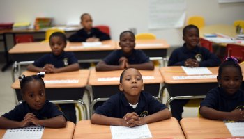 Students at a charter school near Washington, D.C.