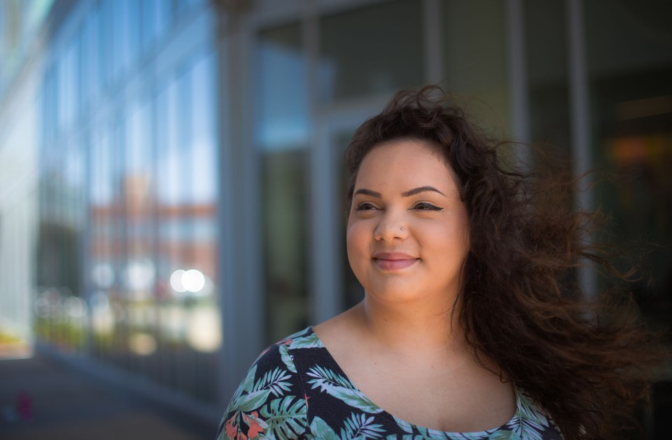 Elycea Almodovar, a junior at Salem State University, was drawn to the school because of its diversity.