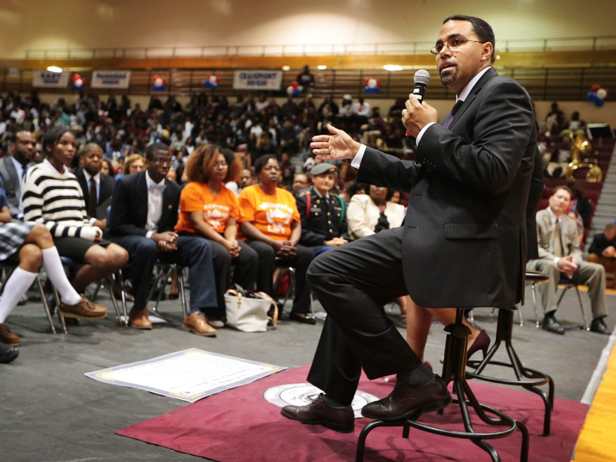 Sept. 14, 2016, MEMPHIS — Former Education Secretary John King visits a school in Tennessee during his tenure in the Obama administration.