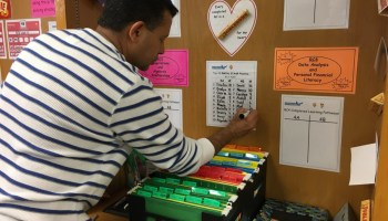 Dan D. Rogers Elementary fourth-grade teacher Sudhir Vasal created math lesson pathways so each child can progress at their own pace.