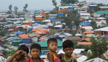 Oct. 14, 2018 — Rohingya children play inside refugee camp in Cox's Bazar, Bangladesh.