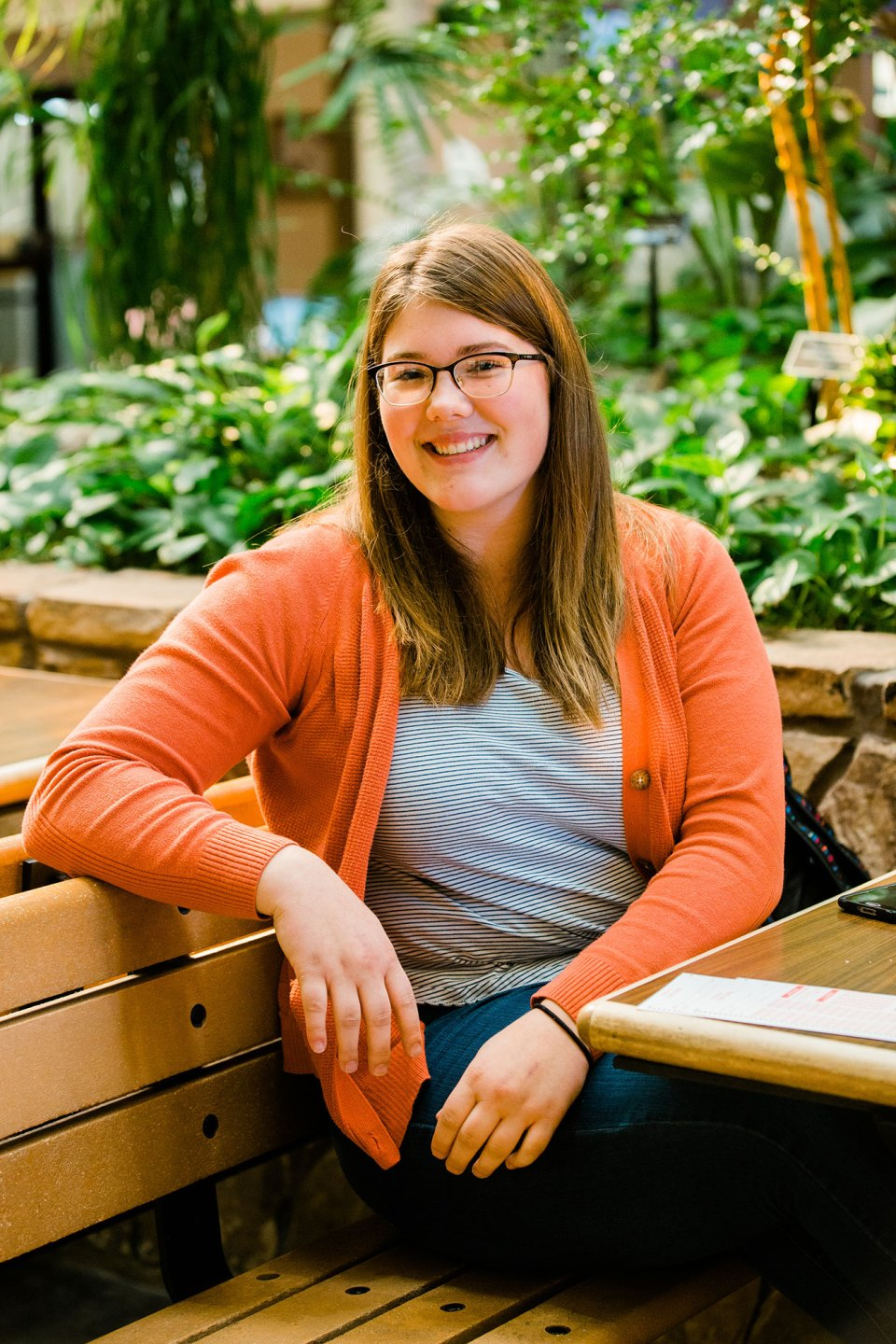 """Annabelle Smith, a political science major at the University of Montana who works part time to pay for school. If Montana's higher education property tax levy fails, the university system warns that tuition could increase by 17 to 18 percent, and """"That's a lot,"""" says Smith. """"It's super tough to be a student and to afford stuff."""""""