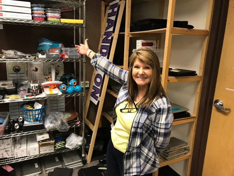 Shawn Caine, who teaches technology at Panguitch High School in Garfield County, Utah, lets students who don't have adequate home internet service get online in her classroom before and after school.