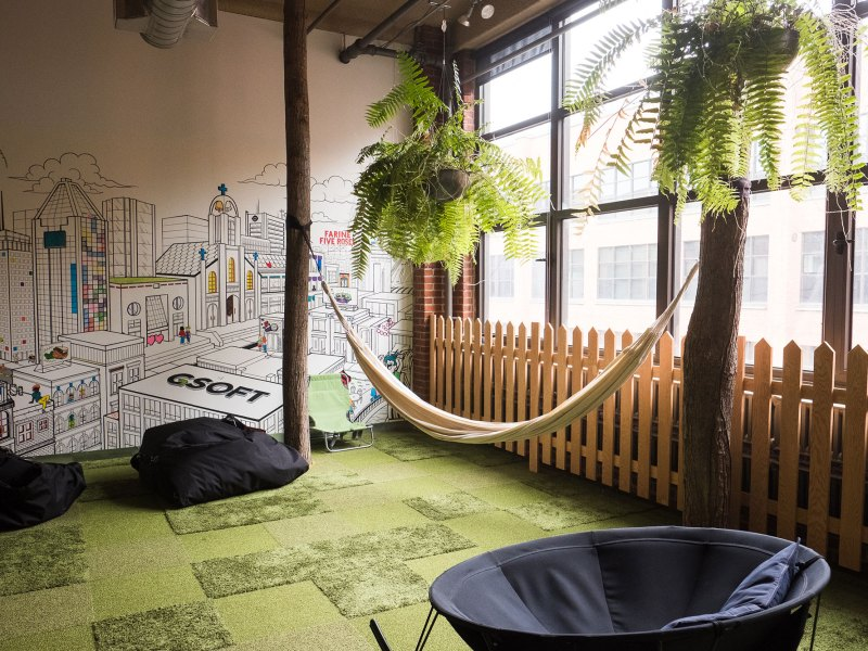 The Chill Room at GSoft, a technology firm in Montreal that features over-the-top amenities to recruit and keep employees at a time of intense competition for talent.