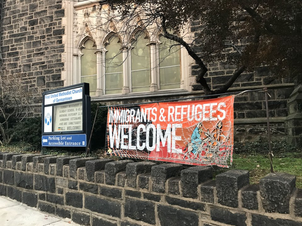 Two families, one from Jamaica and one from Honduras, are living in sanctuary in the First United Methodist Church of Germantown in Philadelphia.