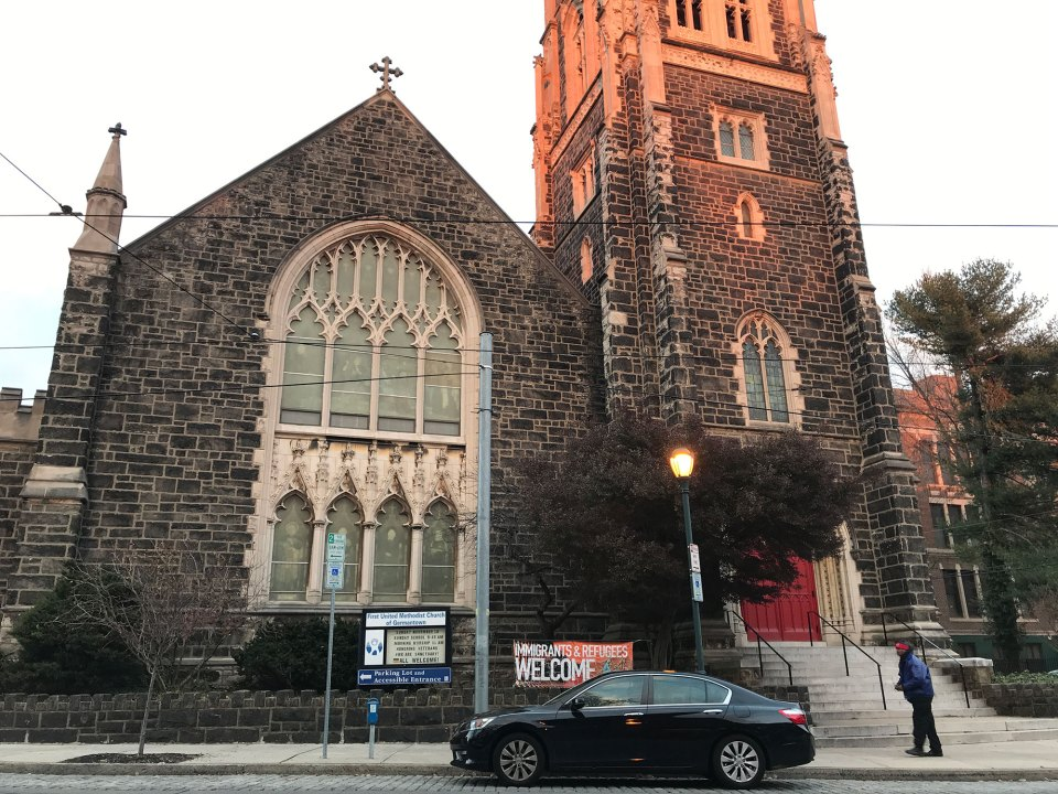 The First United Methodist Church of Germantown in Philadelphia is one of more than 1,000 churches across the country to join the sanctuary movement.