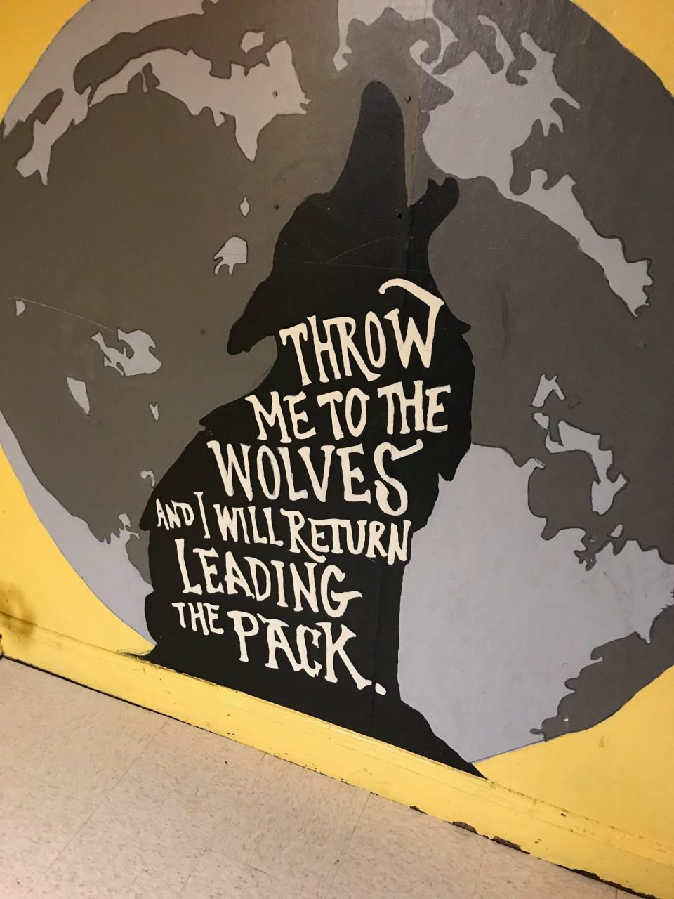 A mural inside the building that houses Boston Uncornered.