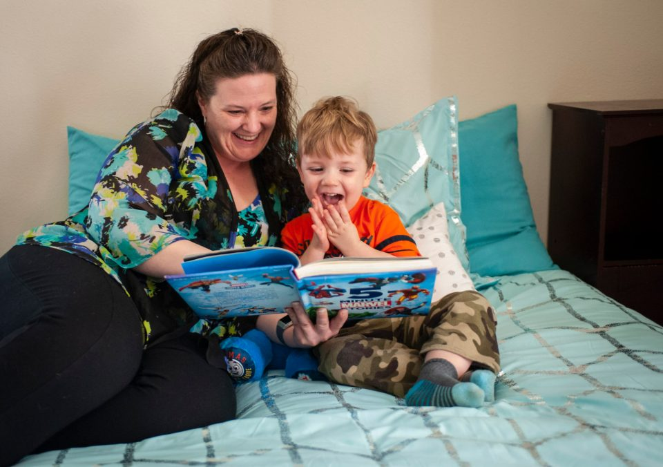 Formerly homeless, Dorothy Gorder now is living with her 3-year-old son and their cat in an apartment she got with help from the local housing authority and the community college she attends.